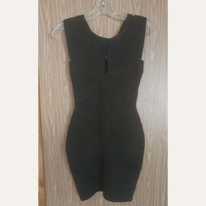 Dresses & Skirts - Black Bandage Keyhole Dress